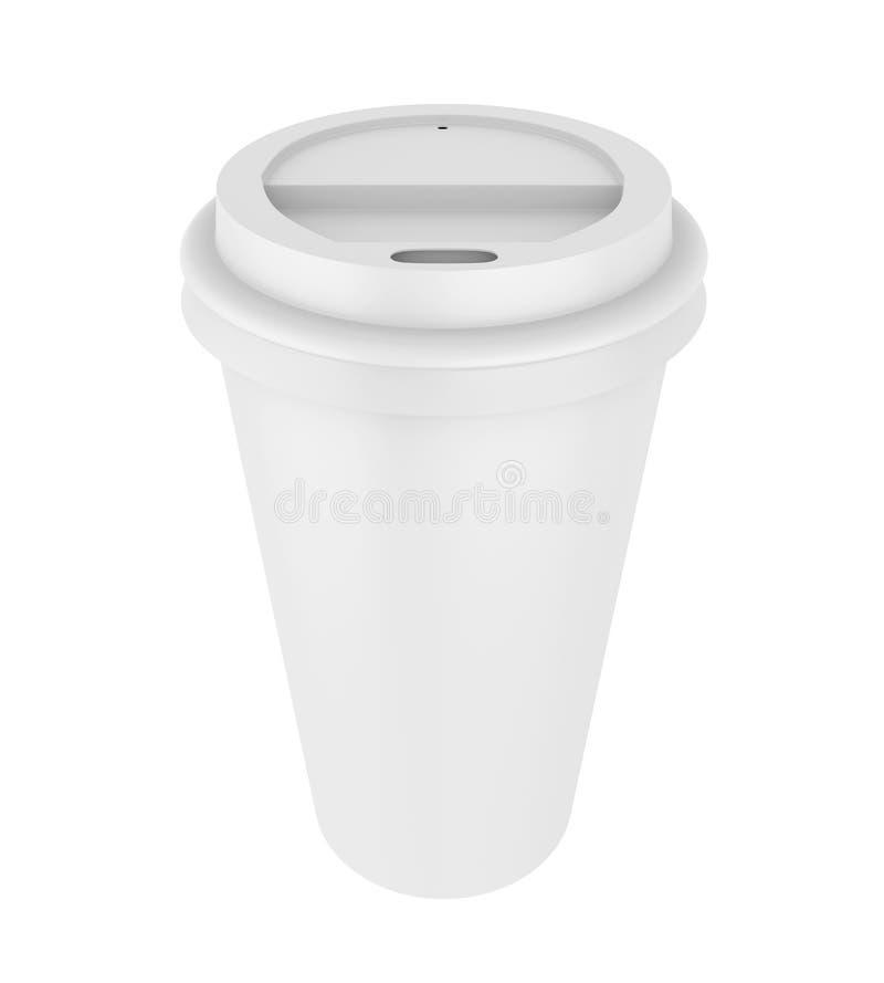 查出的咖啡杯 库存例证
