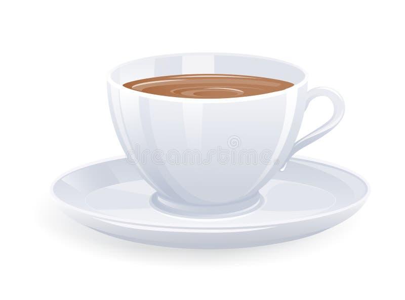 查出的咖啡杯 向量例证