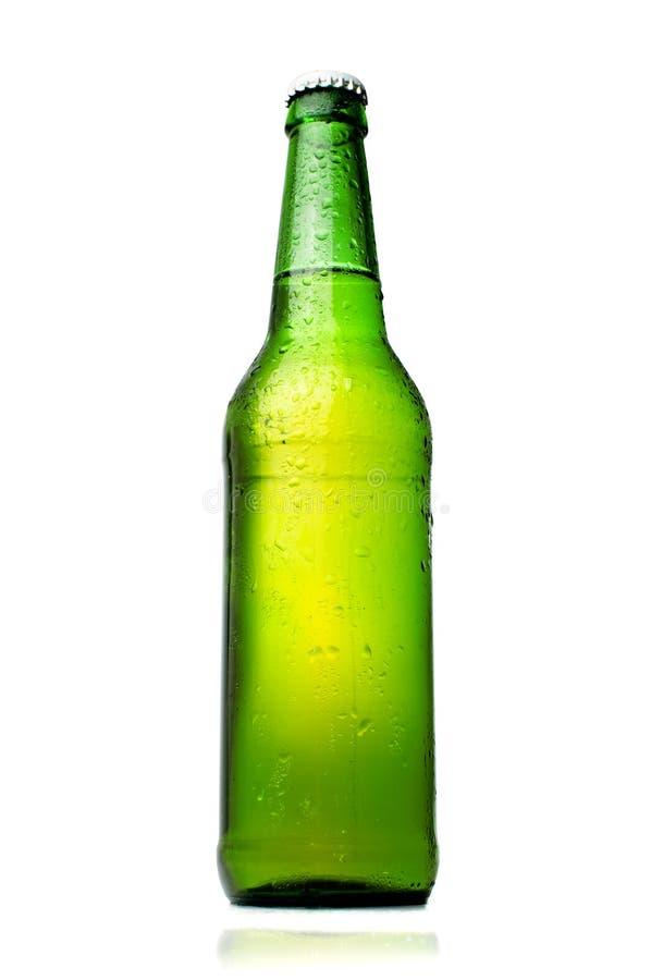 查出的啤酒瓶 库存照片