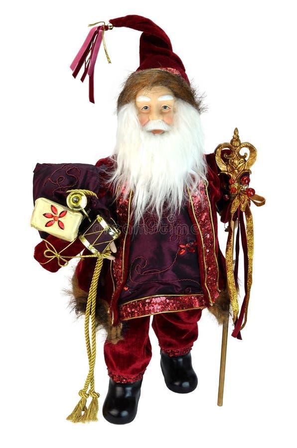 查出的圣诞老人玩偶 免版税库存照片