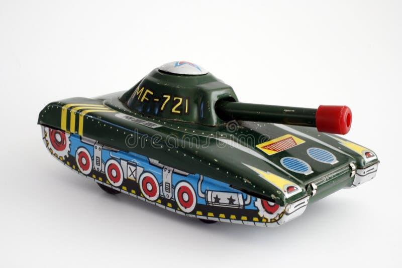 查出的坦克玩具 免版税库存图片