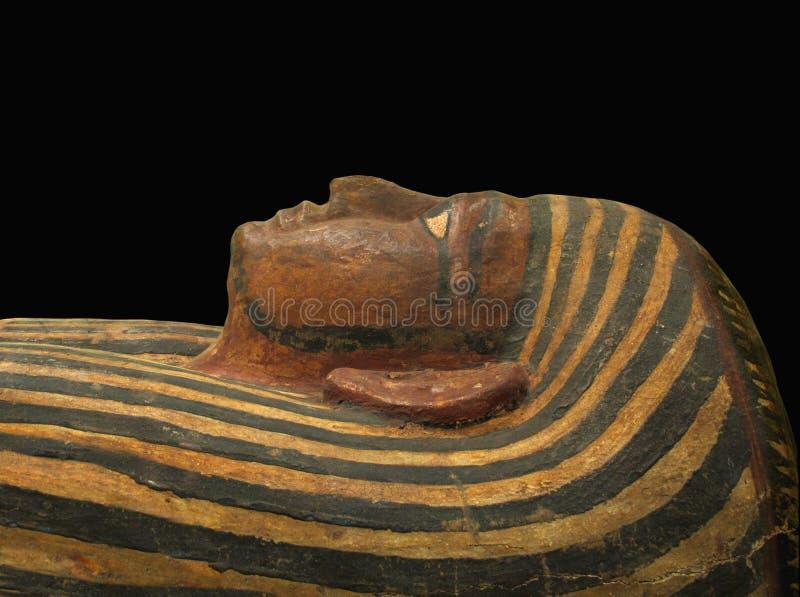 查出的埃及石棺表面 库存照片