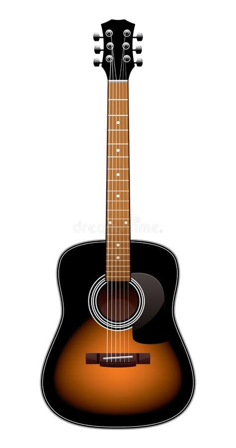 查出的声学吉他 向量例证