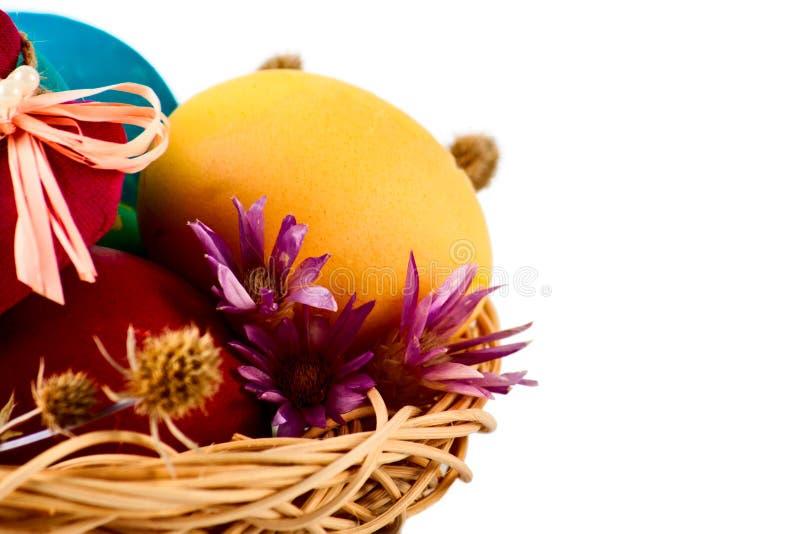 查出的复活节彩蛋 免版税库存照片