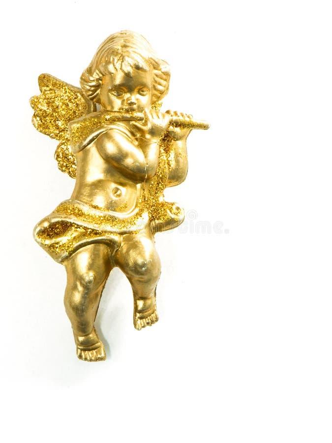 查出的天使金子 免版税库存照片