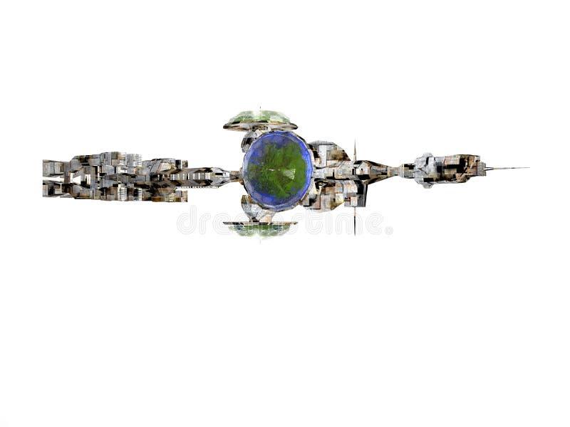 查出的太空飞船 向量例证