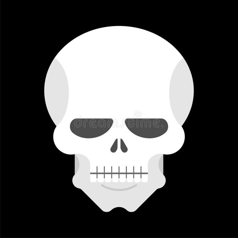 查出的头骨 人顶头骨骼 也corel凹道例证向量 库存例证