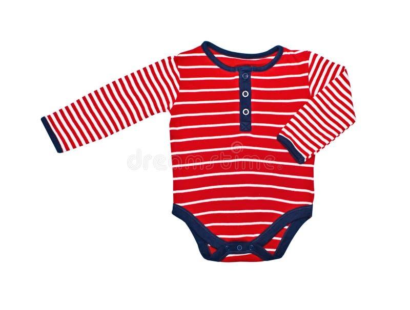 查出的婴孩明亮的衣裳 免版税库存图片