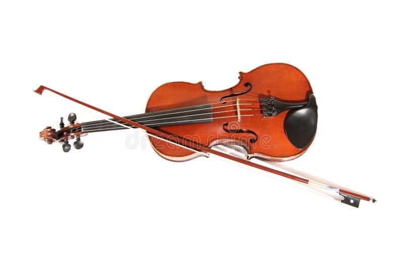 查出的小提琴 图库摄影