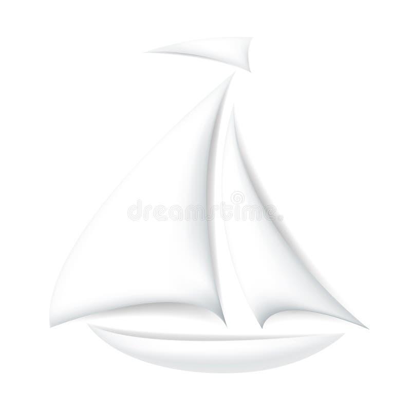 查出的小船 向量例证