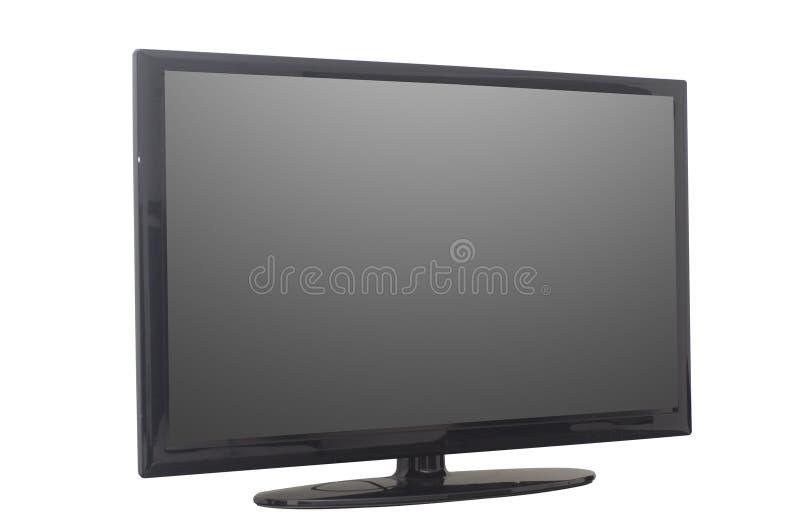 查出的平面屏幕电视或计算机监控程序 免版税库存图片