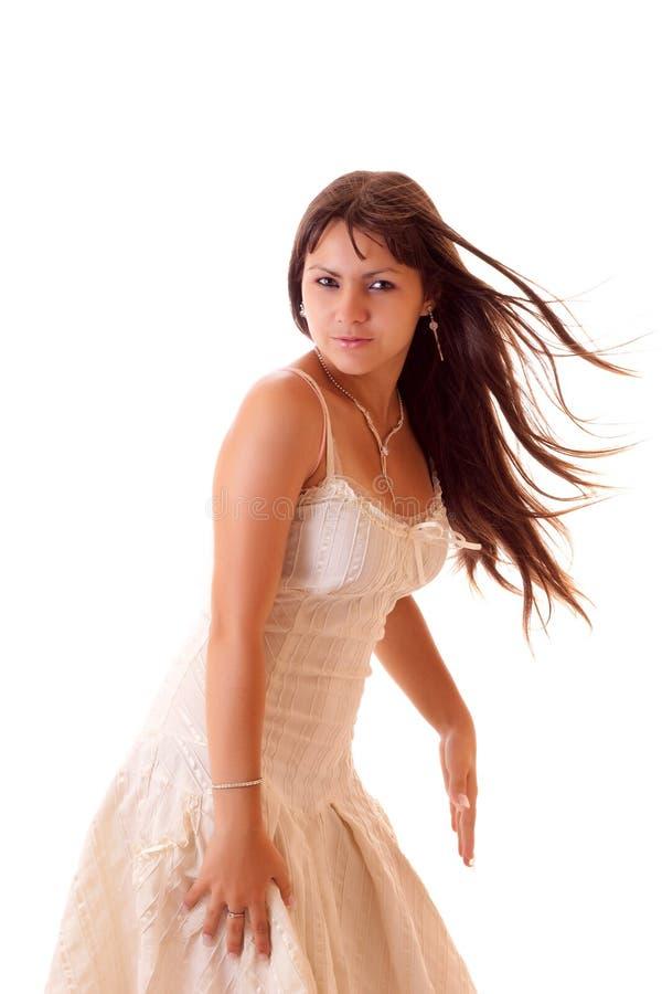 查出的性感的妇女年轻人 免版税图库摄影