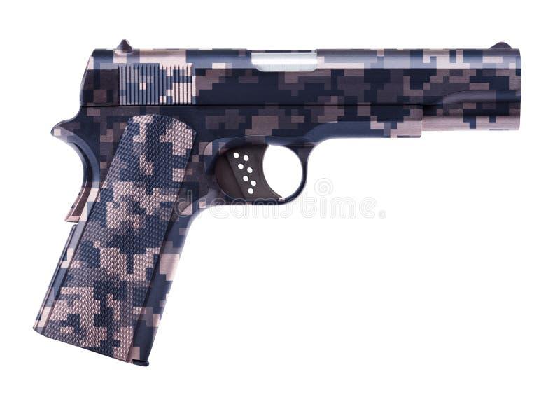 查出的手枪白色 免版税图库摄影