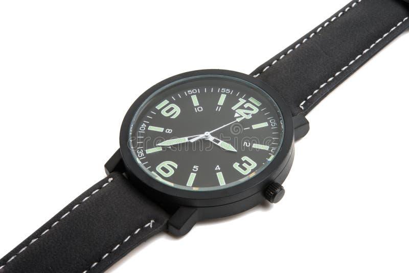 查出的手表 免版税库存图片