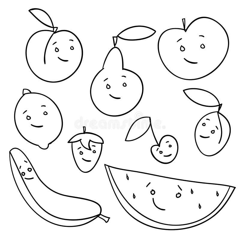 查出的拉长的果子现有量 库存例证