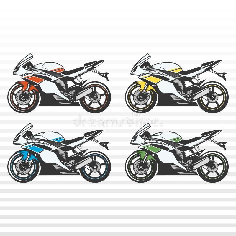 查出的摩托车体育运动白色 免版税库存图片