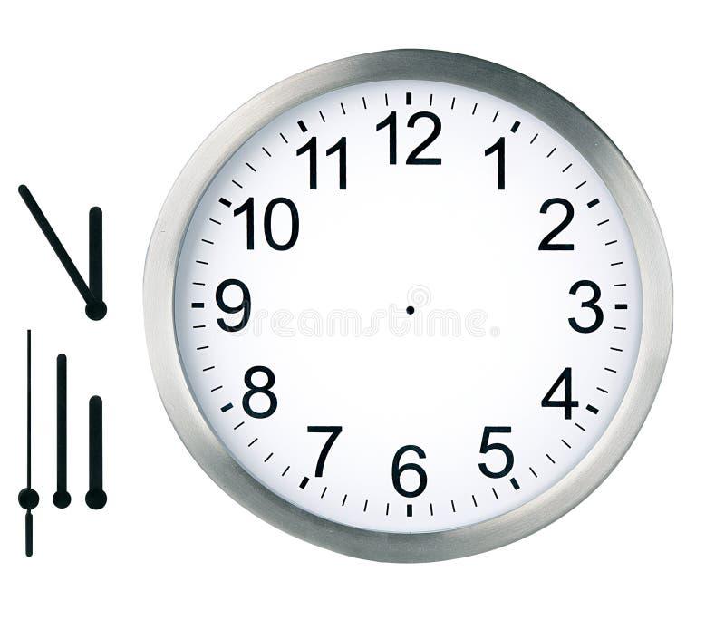 查出的时钟在周围 免版税图库摄影