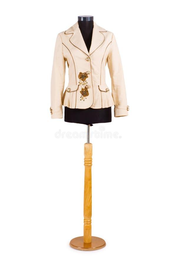 查出的时髦的夹克 免版税库存照片