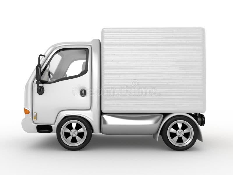 查出的有篷货车白色 向量例证