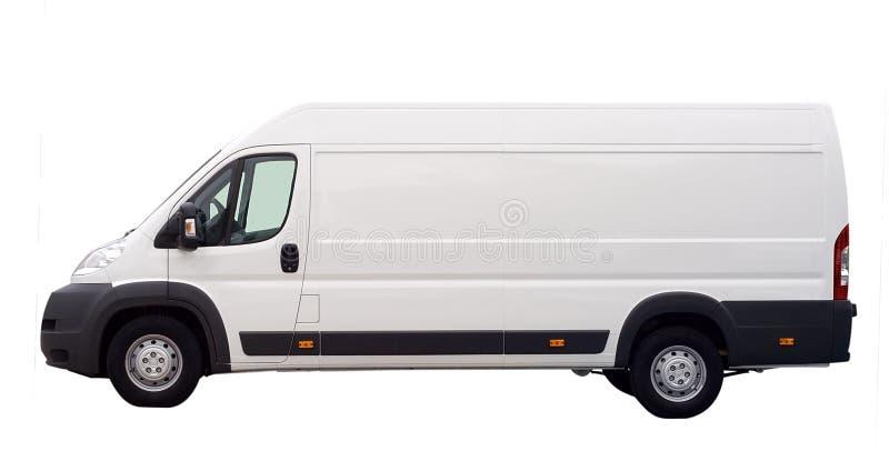 查出的有篷货车白色 库存图片