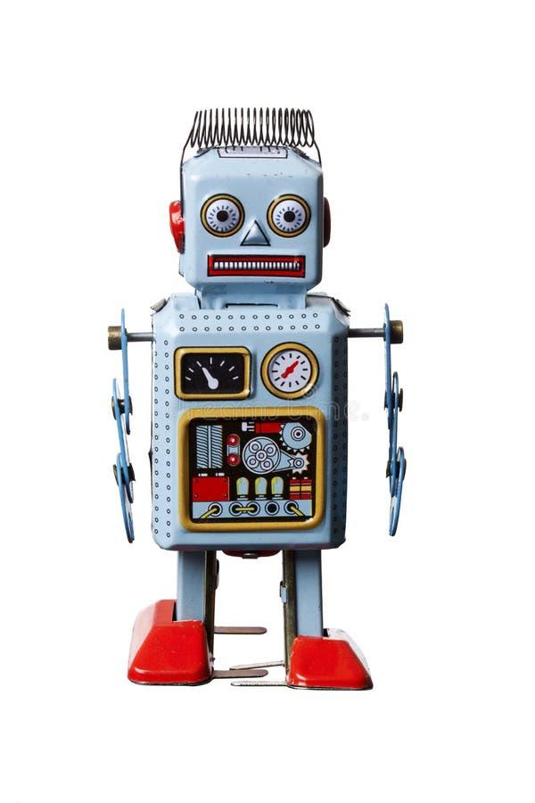 查出的机器人玩具 免版税库存照片
