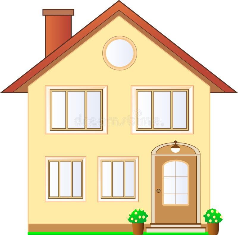 查出的村庄房子 向量例证