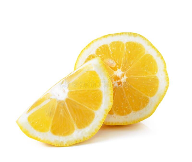 查出的柠檬白色 库存图片