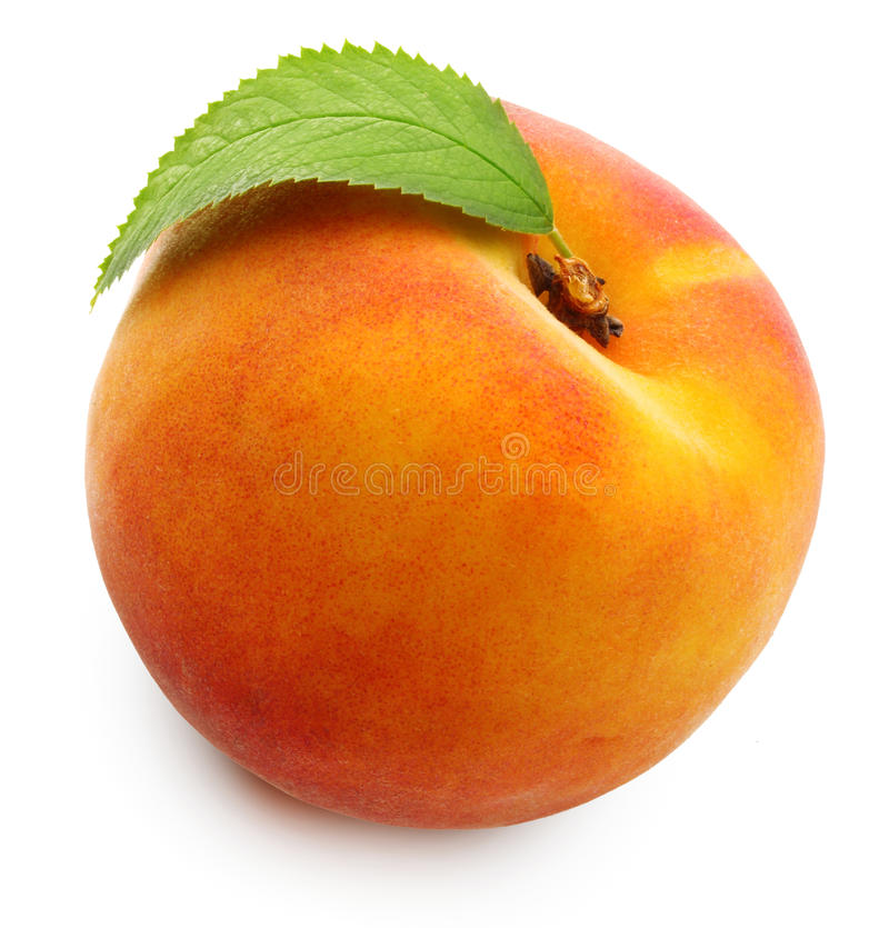查出的桃子 库存图片