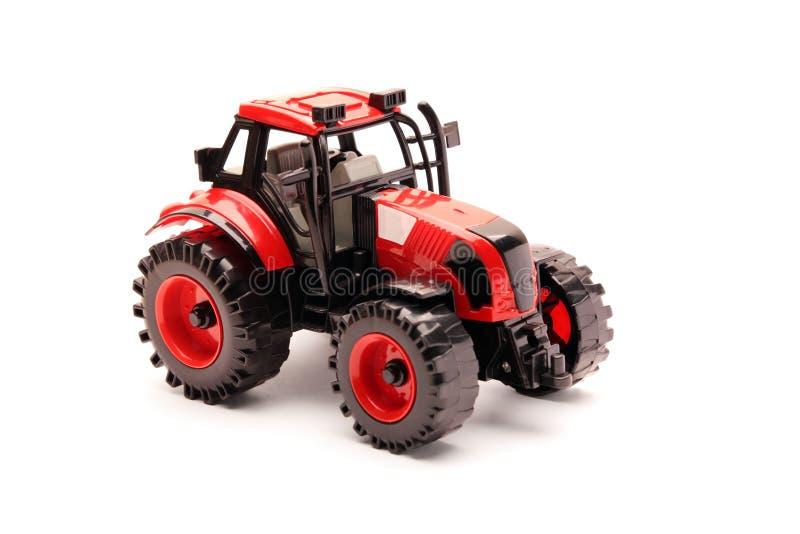 查出的模型拖拉机白色 库存照片