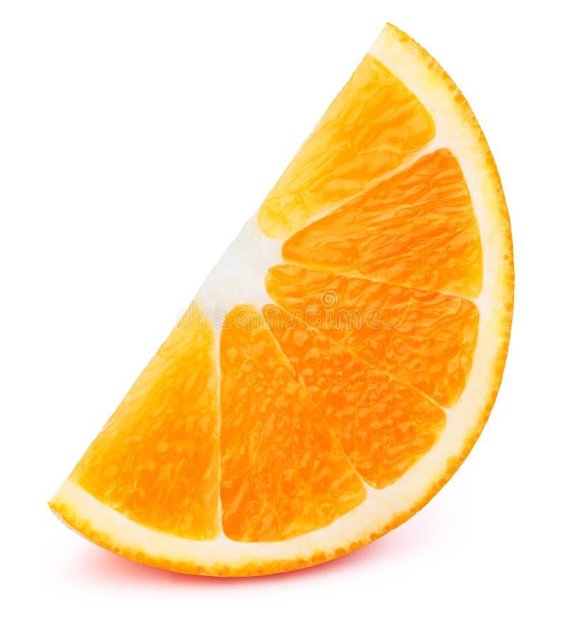 查出的橙色片式 免版税库存图片