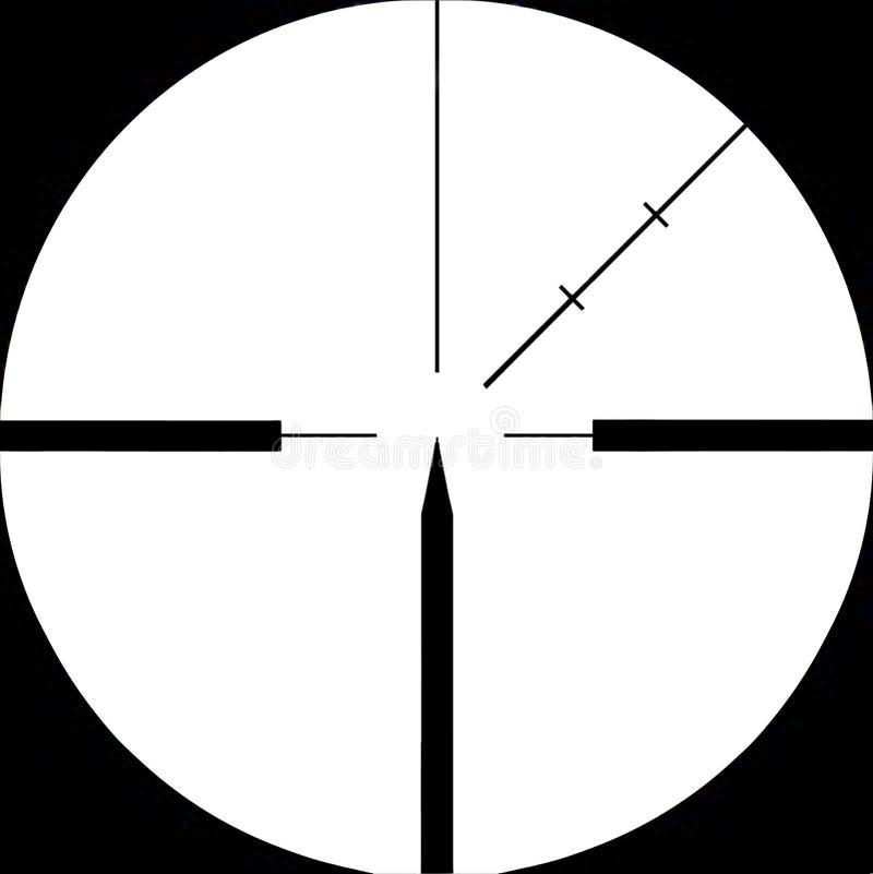 查出的步枪视域狙击手被瞄准 向量例证
