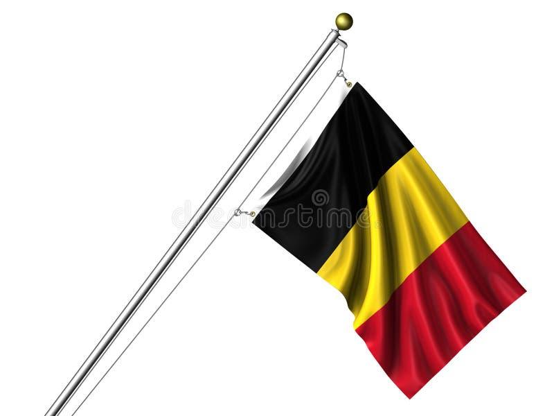 查出的比利时标志 皇族释放例证