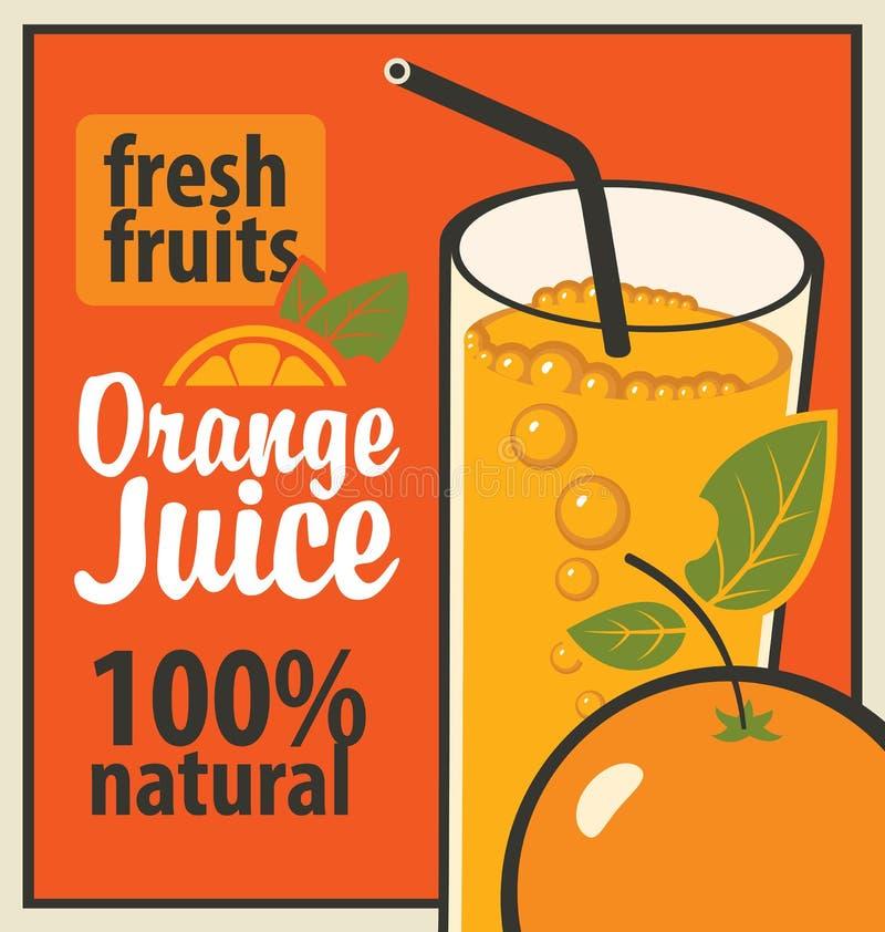 查出的汁液橙色白色 向量例证