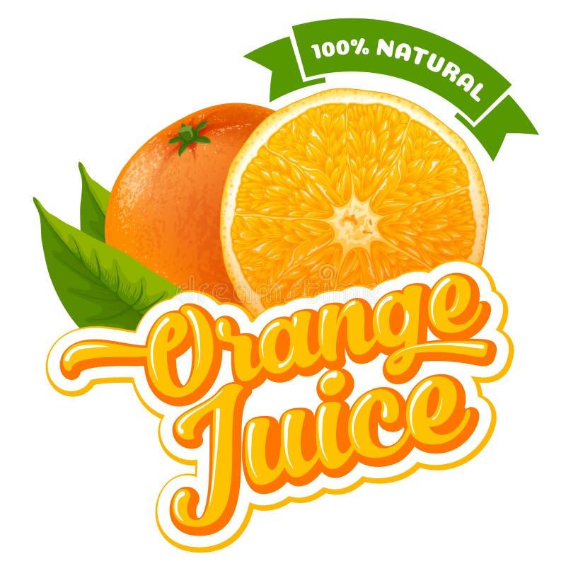 查出的汁液橙色白色 皇族释放例证