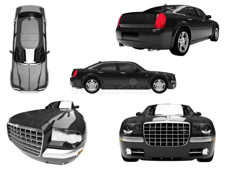 查出的汽车拼贴画 向量例证