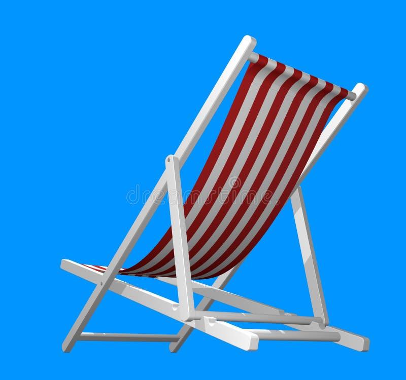查出的海滩睡椅 向量例证