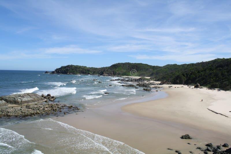 查出的海滩 免版税库存图片