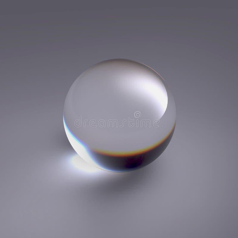 查出的清楚的水晶球 皇族释放例证
