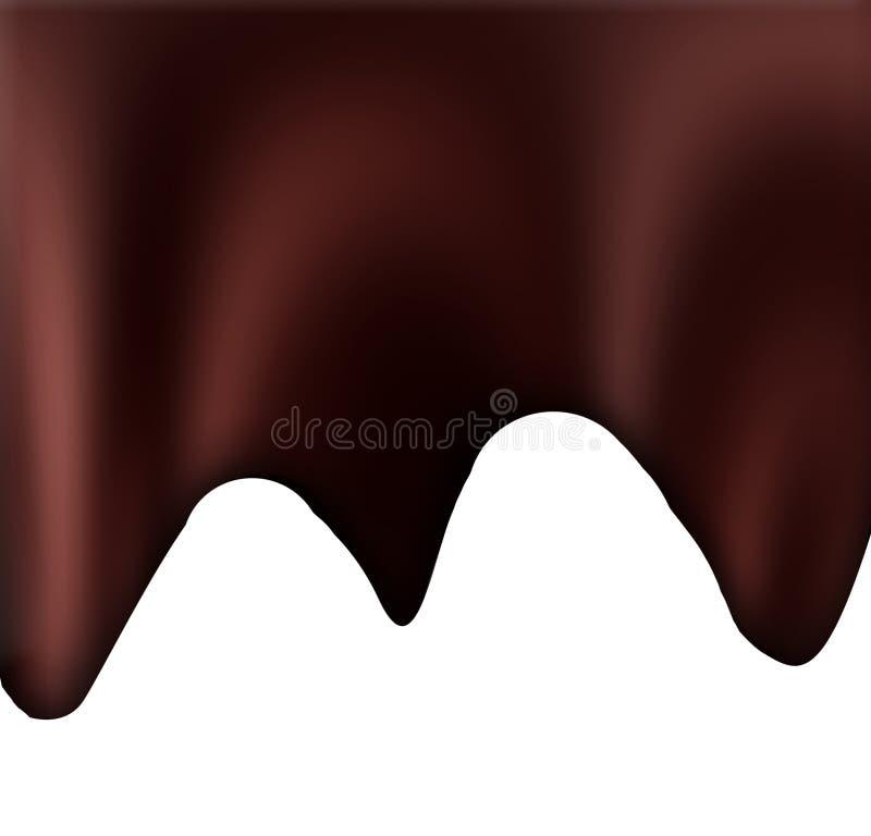 查出的溶解的巧克力流 库存例证