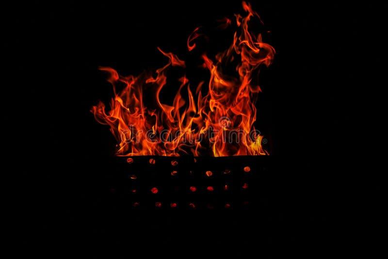 查出的火焰 免版税库存照片