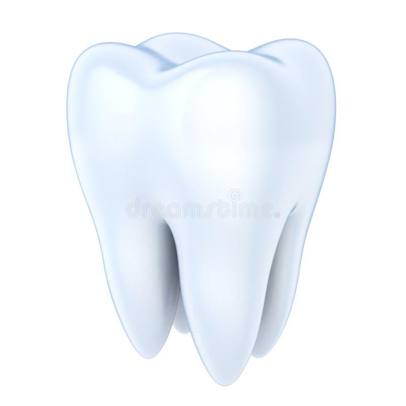 查出的牙 库存例证