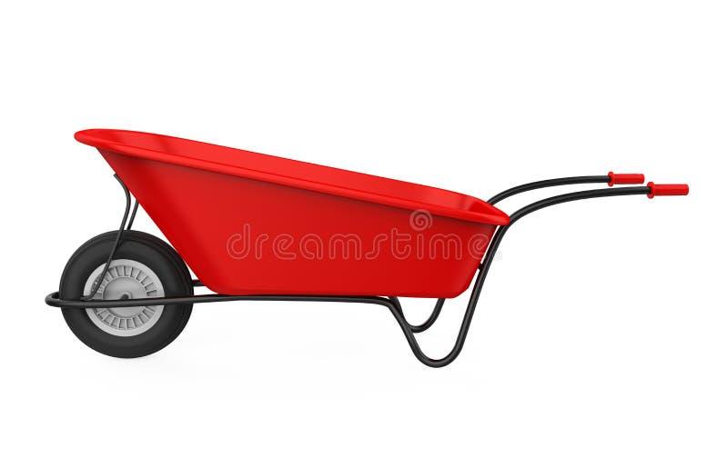 查出的独轮车 向量例证
