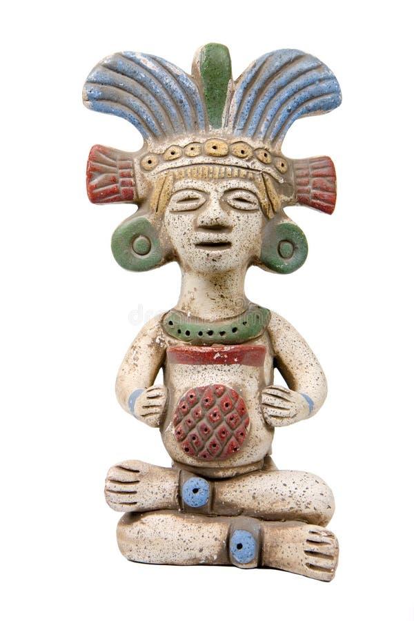 查出的玛雅赤土陶器 库存照片