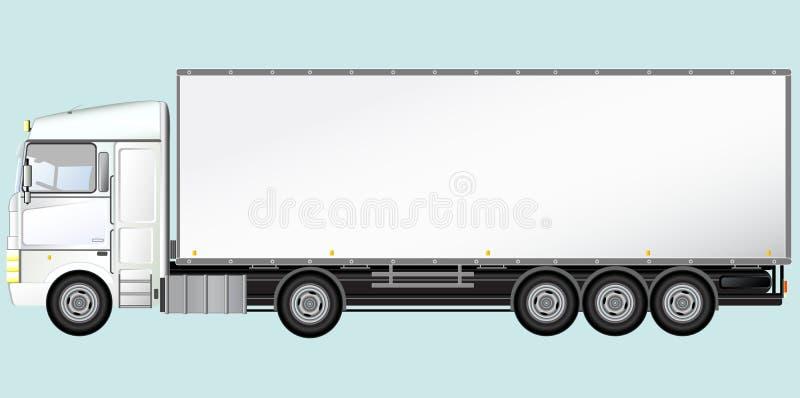 查出的现代卡车 向量例证