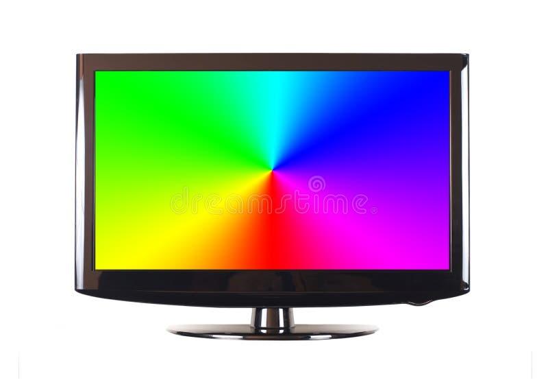 查出的现代面板电视 免版税库存图片