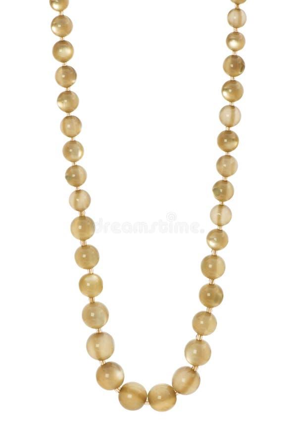 查出的珍珠项链 免版税库存照片