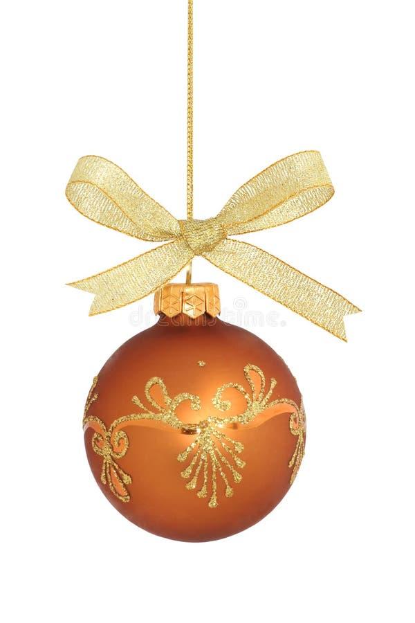 查出的球圣诞节 免版税库存照片