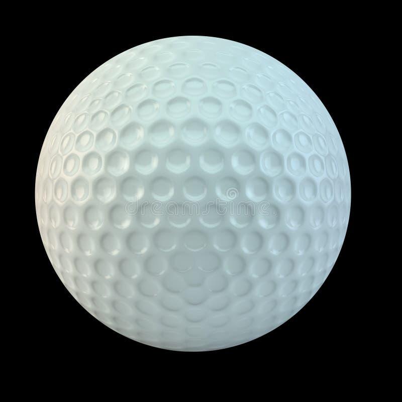 查出的球高尔夫球 库存例证