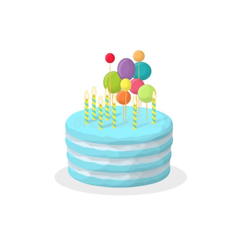 查出的生日蛋糕 库存例证