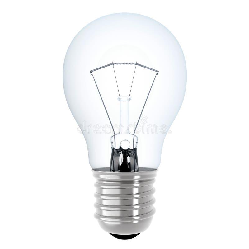 查出的电灯泡 向量例证
